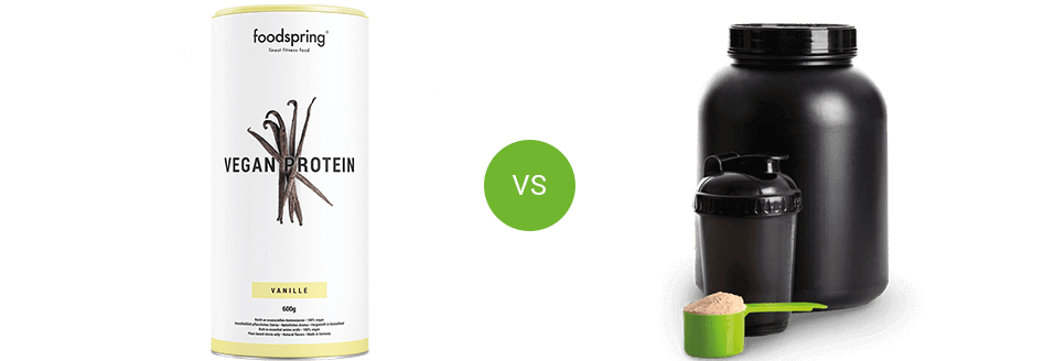 Vegan Protein by foodspring vs. competitor product