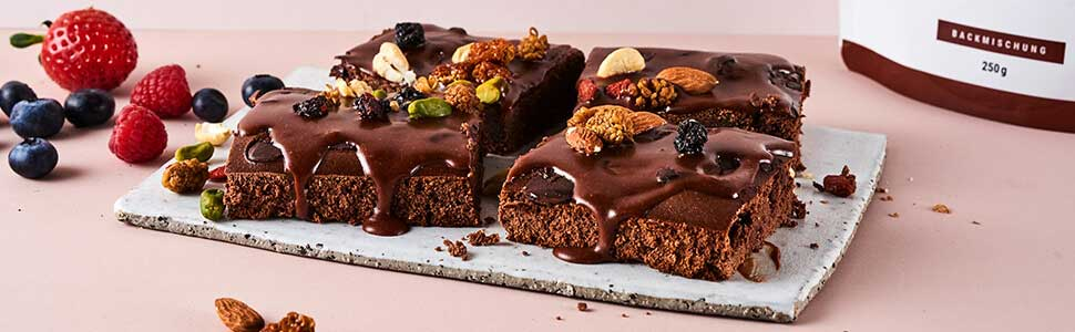 Brownies with nuts & berries